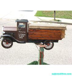Lumber Truck Mail box
