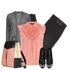 Cute top, not usually into pink, but like all the stuff in combo.