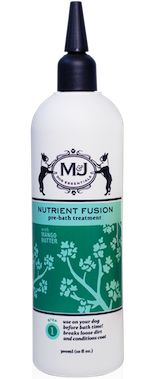 To help ease your dog's itchy, dry skin this winter, try Nutrient Fusion on your dog's dry coat followed by Purely Clean Shampoo & Conditioner in the tub! http://mjdog.com/product/pre-bath-treatment
