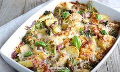 Gesunder Kartoffel-Brokkoli Auflauf mit wenig Kalorien