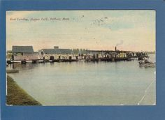 Postcard Boat Landing Hague Park Vandercook Lake Jackson MI | eBay