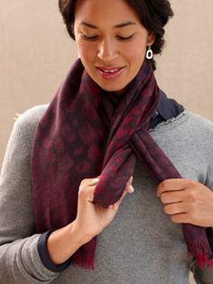 simple scarf tying
