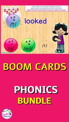 Distance learning is interactive & fun with Boom Cards digital First Grade Phonics. This Bundle covers Consonant Blends, Vowel Teams, Digraphs, Word Families, Syllable Division, Silent E & more. This resource has movable pieces and is user-friendly with fun activities to promote reading mastery. #boomcards #boomcards1stgrade #WordWork #DistanceLearningTpT #boomcardsphonics #TeacherFeatures #tpt #literacycenters #firstgradephonics #backtoschool