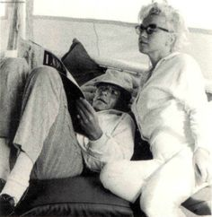 Marilyn and Frank Sinatra on the Romanoff's yacht, Newport Beach, California, August 1961