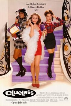 Clueless (1995) a film by Amy Heckerling + MOVIES + Alicia Silverstone + Stacey Dash + Brittany Murphy + Paul Rudd + Donald Faison + cinema + Comedy + Romance
