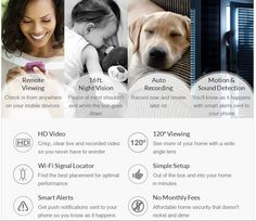 Meet the HD Wi-Fi Camera Simple, smart security for your home. Free app for iOS, Android and Windows See more of your spaces. With a 120° wide angle lens, you can see more of your rooms, pets and kids. Home security in high definition. Crisp 720p HD video gives you a clear view of what's …