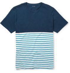 J.Crew Striped Slub Cotton-Jersey T-Shirt | MR PORTER