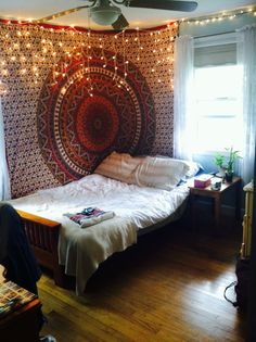 bedroom with tapestry - Google Search