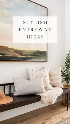 Beautiful entryway ideas to create a welcoming first impression - foyer - entry - Scandinavian style entryway - Lindye Galloway Inspiration, Entry Decor, Entryway Table Decor, Furniture, Scandinavian Style, Table Decorations, Home Decor, Entryway, Entryway Tables