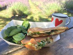 Today's Menu- Smoke Chicken Panini.😋  www.lavenderbackyard.co.nz  #lavenderbackyardgarden #newzealand #farm #menu #lavender #lavenderlatte #panini