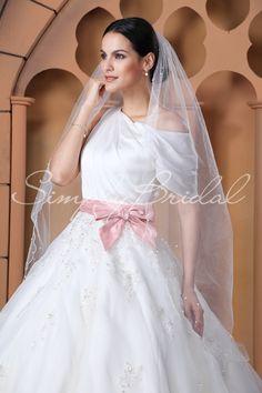 "#87065 - One Tier 50"" Scallop Pencil Edge Veil - Veils - Wedding Accessories - Simply Bridal"