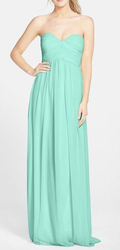 'Laura' Ruched Sweetheart Silk Chiffon Gown