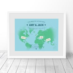 Travel map of the world places weve been together map where weve personalised world map custom travel map print places weve been map where ive been map print map poster map art map of the world gumiabroncs Choice Image