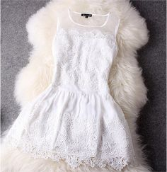 White Lace Dress White Dress - is this the one you wore to the wedding? Flower Dresses, Pretty Dresses, Beautiful Dresses, Prom Dresses, Flower Skirt, Bridesmaid Dress, Girls Dresses, White Lace, White Dress