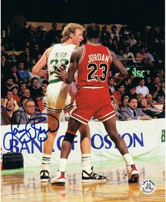 Larry Bird and Michael Jordan(Larry Bird autographed)