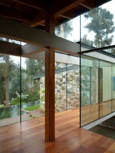 roof height difference and glass adds to the feeling of being outdoors.