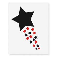 Temporary star design tattoos