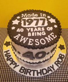 Terrific 40 Year Old Birthday Cake Ideas For Him The Cake Boutique Funny Birthday Cards Online Bapapcheapnameinfo