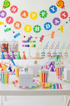 Host a Rainbow Candy Shoppe Birthday Party