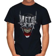 HEAVY METAL BAT LAUGHS T-Shirt - The Batman Who Laughs T-Shirt is $14 today at Ript! Metal Bat, Heavy Metal, Batman Stuff, Embroidery Suits, Mens Tops, T Shirt, Supreme T Shirt, Heavy Metal Music, Tee Shirt