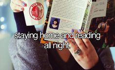 i do that...say i'm too tired to go somewhere then end up reading for eight hours