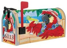Tropical Parrot Bird Magnet Mailbox Wrap Cover by The Flagcenter. $16.98. Numbers are included. Measures 6 1/2 inches wide x 19 inches long. Fits standard metal mailbox. Front face design included. Tropical Parrot Bird Magnet Mailbox Wrap Cover. Save 19%!