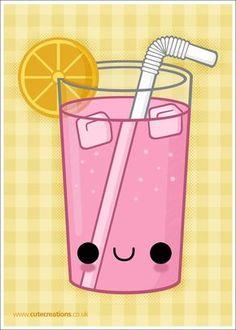 Pink Lemonade by *Cute-Creations kawaii 365 Kawaii, Kawaii Chibi, Kawaii Art, Cute Food Drawings, Cute Kawaii Drawings, Easy Drawings, Summer Drawings, Kawaii Doodles, Cute Doodles