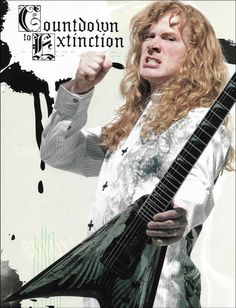 Megadeth Dave Mustaine with Dean VMNT Angel of Deth guitar 8 x 11 pin-up photo. Dave Mustaine Young, Dave Mustaine Guitar, Pin Up Photos, Cool Photos, Megadeth Albums, Korn Concert, Megadeth T Shirt, Young Guitar, David Ellefson