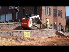 ▶ Hanover Retaining Wall Construction York County, Pa . Ryan's Landscaping - YouTube