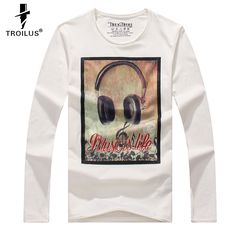 dbde44c496f8d Aliexpress.com   Buy Troilus T Shirt Men Long Sleeve New Fashion 2016 Print  Spring Men s Brand Clothing Casual Slim O neck Cotton T shirt Homme Tees  from ...