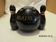 Vintage #1960's #bowling pins with #bowling ball #ceramic black in color,  View more on the LINK: 	http://www.zeppy.io/product/gb/2/231873114039/