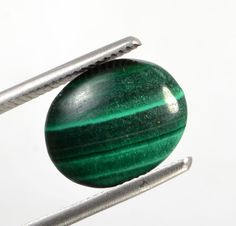 5.99 Ct Certified Natural Oval Cabochon Malachite  Gemstone St- 8274