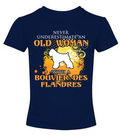 Old woman with Bouvier des Flandres shirt  #gift #idea #shirt #image #doglovershirt #lovemypet