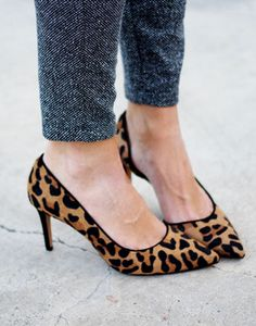 leopard heels - normally not my thing....but these are cute!