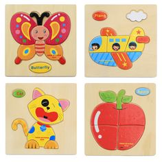 1 Pcs 16 Animals Shapes Jigsaw Hot Wooden Toys For Children Baby Kids Intelligence Educational Toys Cartoon Fallout Toy Puzzle