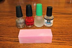 DIY gel manicure. Lasts as long as a shellac manicure and you can use any nail polish color you want!