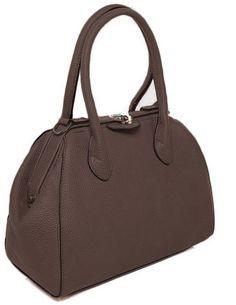 Womens Ladies Medium Sized Brown Faux Leather Handbag Grab Bag NEW Satchel Work Grab Bags, Satchel, Medium, Lady, Brown, Leather, Stuff To Buy, Women, Brown Colors