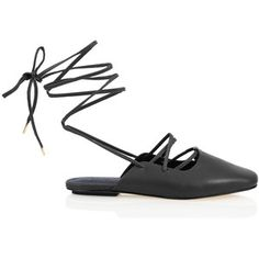 Tibi Lila Lace-Up Loafers