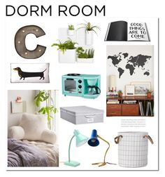 """Dorm"" by hellodollface ❤ liked on Polyvore featuring interior, interiors, interior design, home, home decor, interior decorating, ferm LIVING, Walls Need Love, Urban Outfitters and Naked Decor"