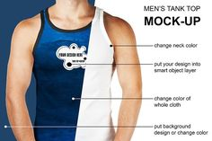 Men's Tank Top Mock-Up by RM_design on @creativemarket