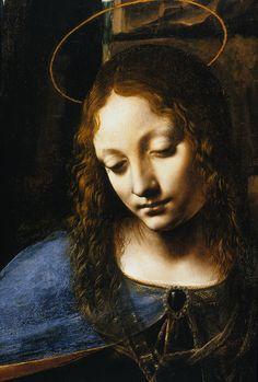Virgin of the Rocks (detail) by Leonardo da Vinci (1483-1486)