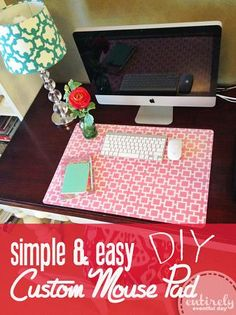 Entirely Eventful Day: How to Create a Custom Desk Pad