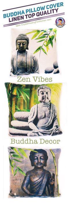 Buddha Pillow Cover Linen. Top Quality, vibrant color. Environmental friendly. Buddha Decor, Zen Vibes for your home.  🙏🏼 Buddha Decor   Zen Decor   Natural Materials   Linen   Green Products   Green Home   Positive Home Decor   Feng Shui Decor   Buddha Inspired   Zen Inspired
