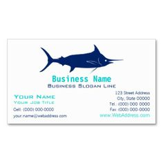 The 154 best fishing business cards images on pinterest business blue marlin silhouette business card colourmoves