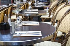 Street view of a Cafe terrace with tables and chairs,paris France Stock Photo Parisian Cafe, Cozy Cafe, Vintage Cafe, French Bistro, Paris France, Coffee Shop, Terrace, This Is Us, Street View