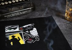 This evocative piece by PyroDog Pins harks back to 1920s crime novels and draws you in to shadowy secrets! Find it, and many more mysteries in Noir, Issue 12, out now! £8. Draw Your, Cross Stitch Designs, 1920s, Crime, Mystery, Novels, Magazine, Digital, Magazines