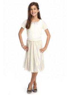 SEQUIN HEARTS girls  2-Piece Eyelash Top and Glitter Skirt Set Girls 7