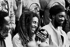 cripsooo:    Dick Gregory, Bob Marley and Earl Lindo Press Conference Amandla Festival 1979
