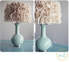 Burlap lampshade inspired by Anthropologie