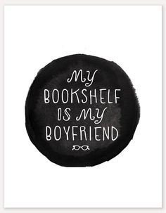 Book Lovers Print black by AlisaBobzien on Etsy